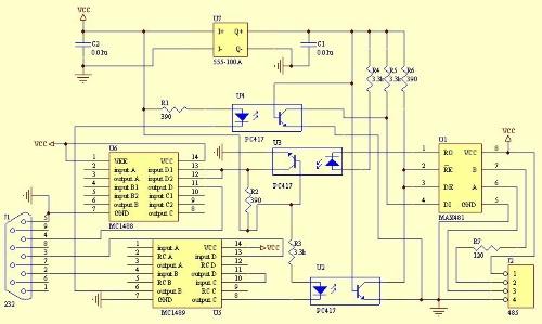 max485 保护电路图