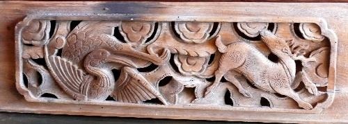 木雕动物花板