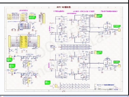 高保真WAV播放器的电路图之二DAC及模拟信号处理电路部分