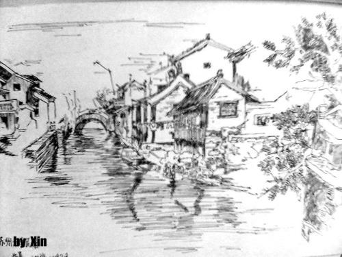 暑假风景手绘简笔画