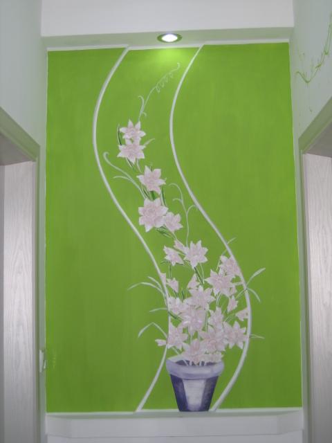 卧室门厅墙面手绘