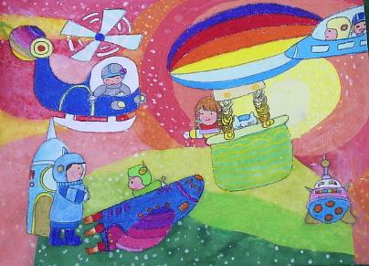 春节 游玩绘画 幼儿