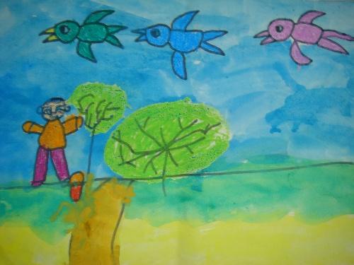和我简笔画小猫彩色的鱼