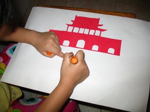 小学生国庆节剪贴画_国庆节手工剪贴画图片大全 我和孩子做剪贴画 清风夏荷 我