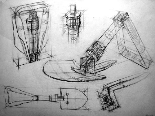 圆柱物体素描结构图片