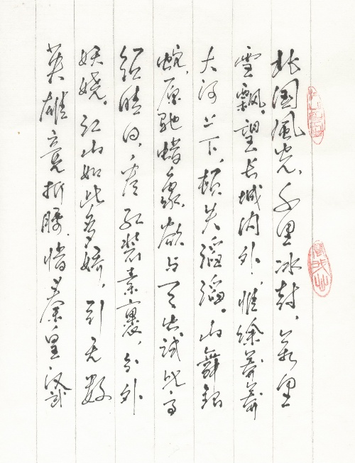 硬笔书法——《七律.长征》,《 沁园春.雪》图片