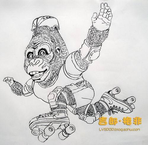 如何画大猩猩简笔画教程12张图片第8张