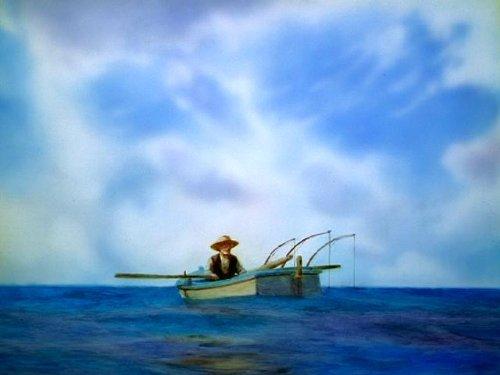 在荣老师家读过'硬汉海明威',便想起找出《老人与海