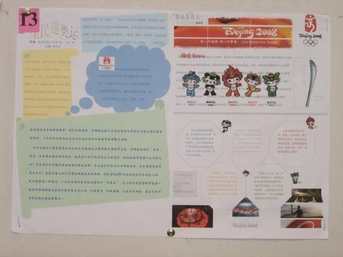 板书设计海报由报头,宣传词,宣传画,制作人姓名等组成.