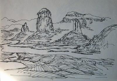 神奇钢笔风景画速写技法教学视频