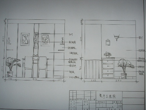 果子忙(作业之手绘家装设计图)