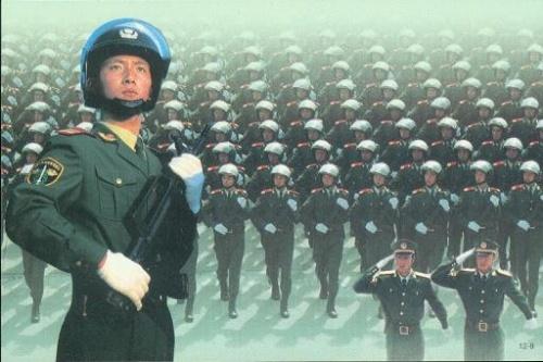 中国武警特警队图片