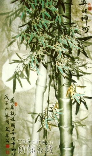 竹子水粉画图片大全