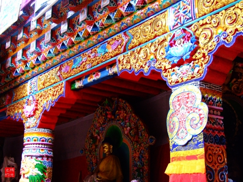 然鲁柯纪行之八:然鲁满顶寺的木雕工艺和彩绘