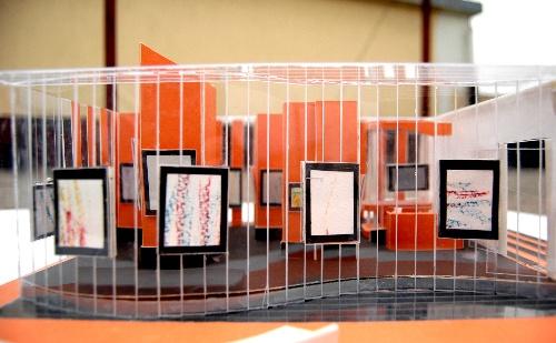 我的展示设计作业《我的个人画展-----橙色乐章》