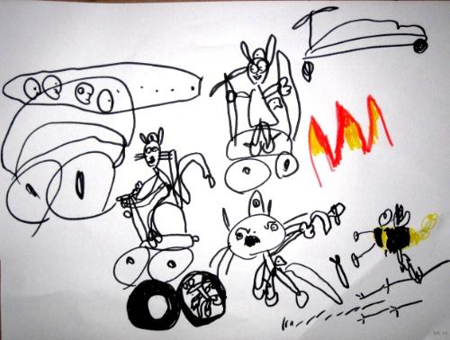 儿童画 简笔画 手绘 线稿 500_378