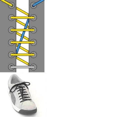 时尚鞋带系法