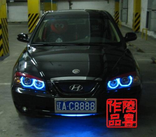 伊兰特车灯改装-沈阳博鑫车灯改装