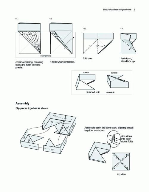 正方形带花纸盒的折法