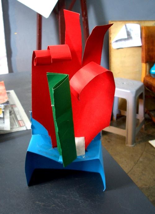 中学生美术课堂立体纸造型课图片资料及作品展示