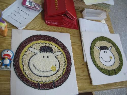 小肥羊——谷物粘贴画