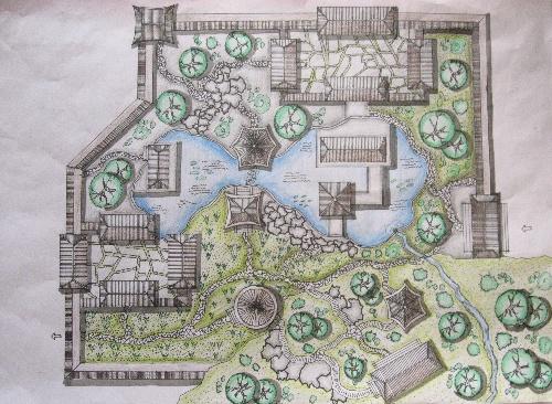 古典园林平面图_. 平面    中国 古典 园林 平面