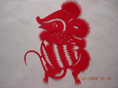 中国过年福娃简笔画