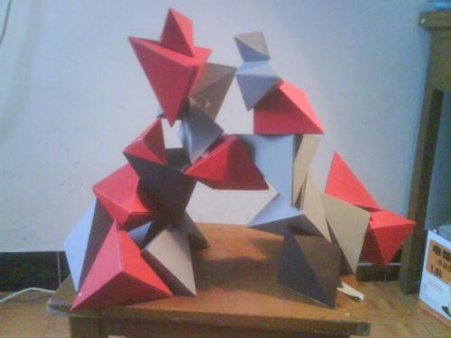 立体构成面构设计图片展示