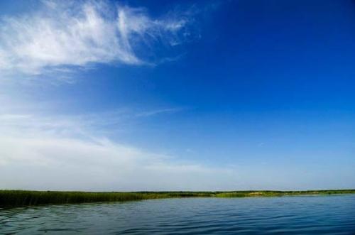 蓝色的海蓝色的天
