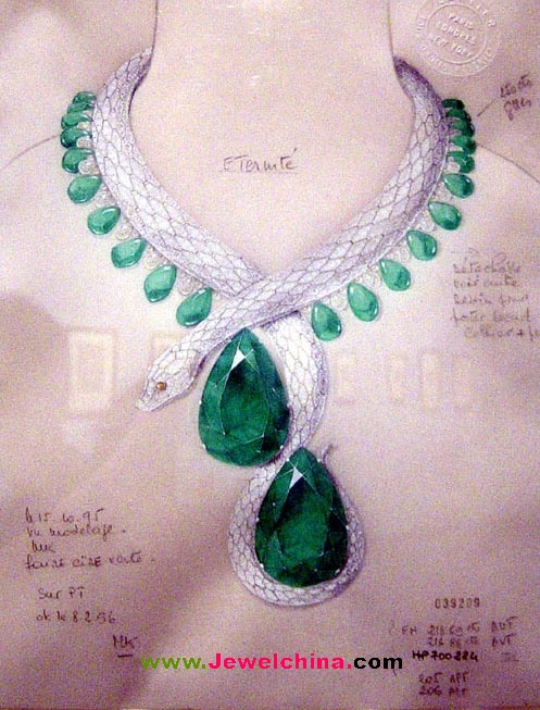 珠宝首饰--手绘(国外)