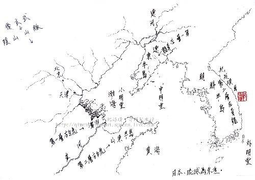 江南风水简笔画儿童画