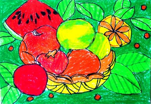 儿童画画水果-小学生画画大全|水果桃子儿童画|1一6年级画画图片大全