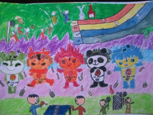 三年级儿童低碳环保一等奖绘画作品