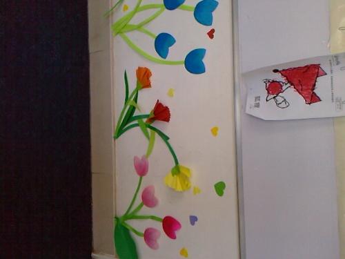幼儿园走廊墙面布置-想你